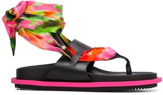 MSGM Wraparound Strap Low Heel Sandals