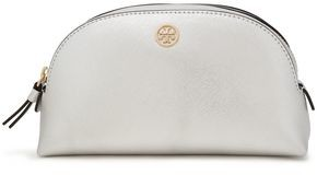Tory Burch Metallic Textured-leather Cosmetics Case