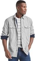 Gap Brushed flannel shirt jacket