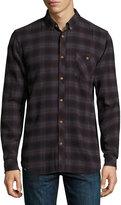 Wesc Olive Plaid Slim-Fit Shirt, Plum