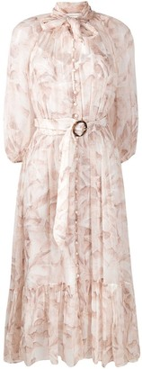 Zimmermann Belted Pussybow Shirt Dress