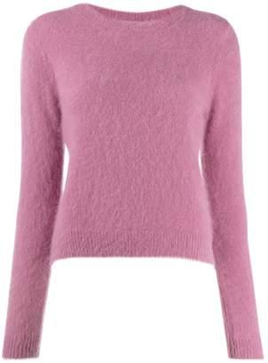 Bellerose round neck fuzzy knit sweater