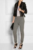 Alexander Wang Cotton-blend fleece track pants