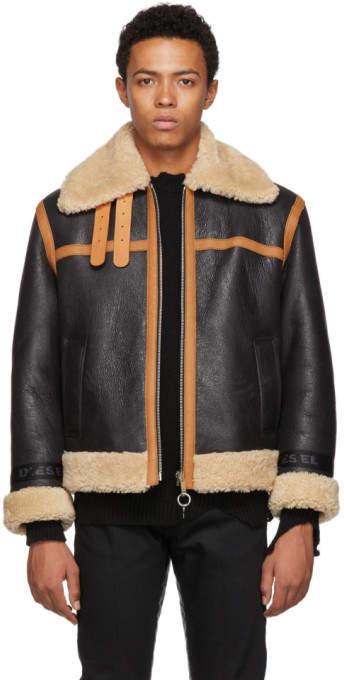 Diesel Black Shearling L-Folson Jacket