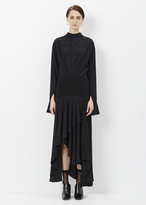 J.W.Anderson black long back to front shirt dress