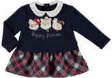 Mayoral Puppy Friends Plaid Sweater Dress, Size 6-36 Months