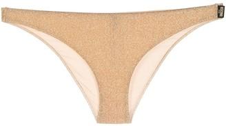 Moschino Metallic Bikini Bottoms
