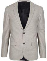 River Island Mens Grey skinny fit blazer