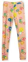 Stella McCartney Tula Floral Jersey Leggings, Pink, Size 4-12