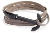 Miansai Men's Modern Anchor Leather Wrap Bracelet