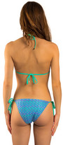 Kiwi Turquoise Triangle Swimsuit Melly Polly TURQUOISE