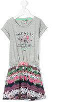 Vingino drawstring T-shirt dress - kids - Cotton/Polyester/Viscose - 4 yrs