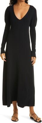 Rebecca Taylor V-Neck Long Sleeve Knit Dress