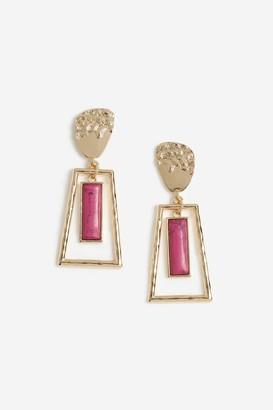 Topshop Womens **Fuchsia Drop Earrings - Fuchsia