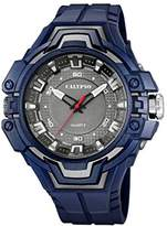 Calypso Unisex Quartz Watch with Grey Dial Analogue Display and Blue Plastic Strap K5687/5