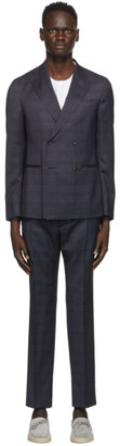 Ermenegildo Zegna Navy Double-Breasted Suit