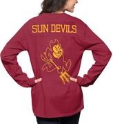 Women's Pressbox Maroon Arizona State Sun Devils The Big Shirt Oversized Long Sleeve T-Shirt