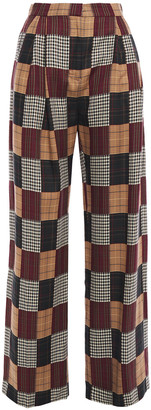House of Holland Checked Jacquard Wide-leg Pants