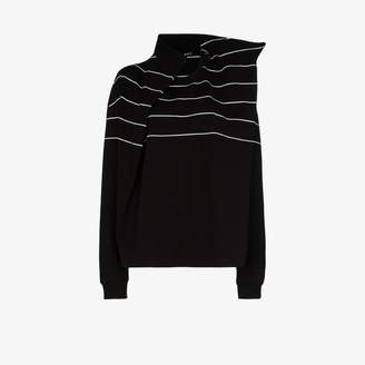 Y/Project Trench striped cotton T-shirt