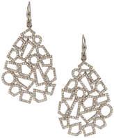 Bavna Geometric Diamond Pavé Drop Earrings