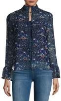 2-in-1 Floral-Print Top and Camisole