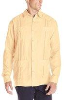 Cubavera Men's Long-Sleeve 100% Linen Guayabera