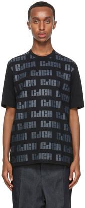 Comme des Garçons Homme Black Logo Pattern T-Shirt