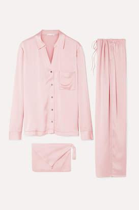 Skin - Washed Silk-satin Pajama Set - Blush