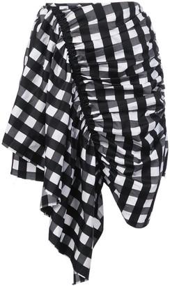 Marques Almeida Asymmetric Mini Skirt