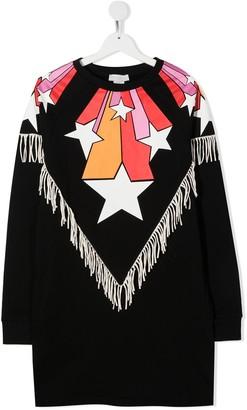 Stella Mccartney Kids TEEN fringed star-print dress
