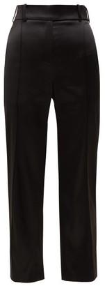 Alexandre Vauthier Slim-fit Satin Trousers - Black