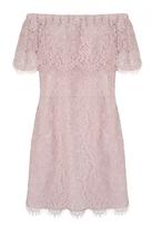 Quiz Curve Pink Lace Bardot Bodycon Dress