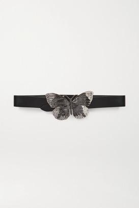 Paco Rabanne Embellished Leather Belt - Black