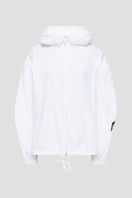 adidas Mesh-trimmed Crinkled-shell Hooded Jacket