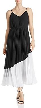 nanette Nanette Lepore Pleated Color-Block Dress