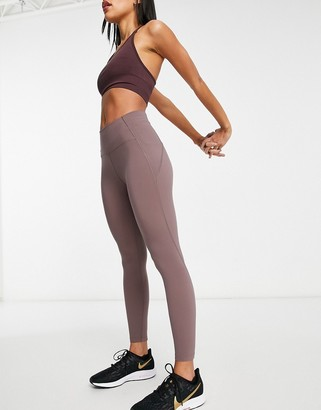 Lorna Jane no dig ankle biter leggings in mauve