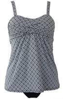 Qiaoer Women Two Pieces Swimwear Tankini Top with Triangle Bikini Bottoms (L, )