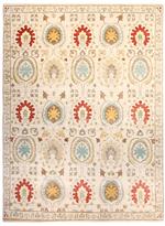 """F.J. Kashanian Ikat Hand-Knotted Rug (9'1""""x12'1"""")"""