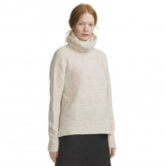 Marimekko Beige Hua Relaxed Turtleneck Knitted Jersey - S - Natural/Marble