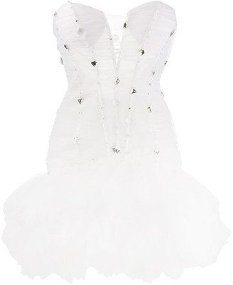 Loulou Embellished Ruched Party Dress