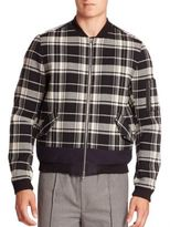 Timo Weiland Combo Stripe Duncan Bomber Jacket