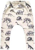 Blackobe Toddler Kid Boy Dinosaurs Print Elasticity Long Pants Lovely Harem Trousers