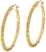 Margherita Bronze 1-1/2 Round Hoop Earrings by Bronzo Italia