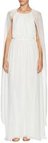 Rachel Zoe Henrietta Drape Silk Back Cape Gown