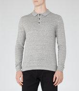Reiss Reiss Tucker - Melange Polo Shirt In Grey