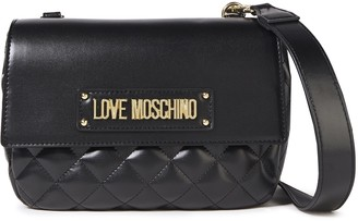 Love Moschino Logo-embellished Quilted Faux Leather