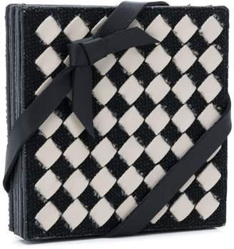 Bottega Veneta intrecciato checker coasters set