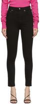 A Gold E Agolde AGOLDE Black Roxanne Super High Rise Skinny Jeans