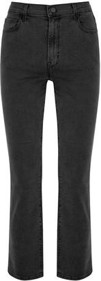 J Brand Alma faded black straight-leg jeans
