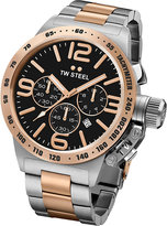 Tw Steel Cb133 Canteen Rose Gold-plated And Stainless Steel Chronograph Watch